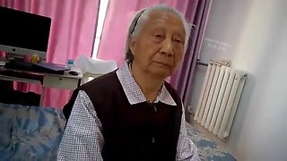 Chinese granny screwed