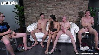 Reality group sex video featuring seductive Czech bitch Mea Melone
