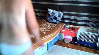 Busty mature lady gets her juicy slit devoured on hidden cam