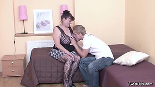Young Boy Seduce His Grandma to get First Fuck